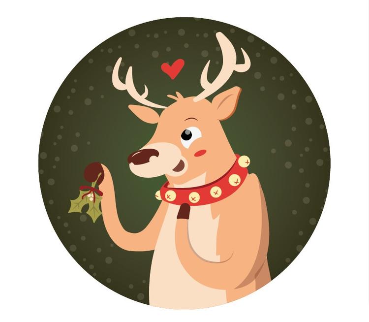 REINDEER ROMANCE - christmas, children'sillustration - beccasyracuse | ello