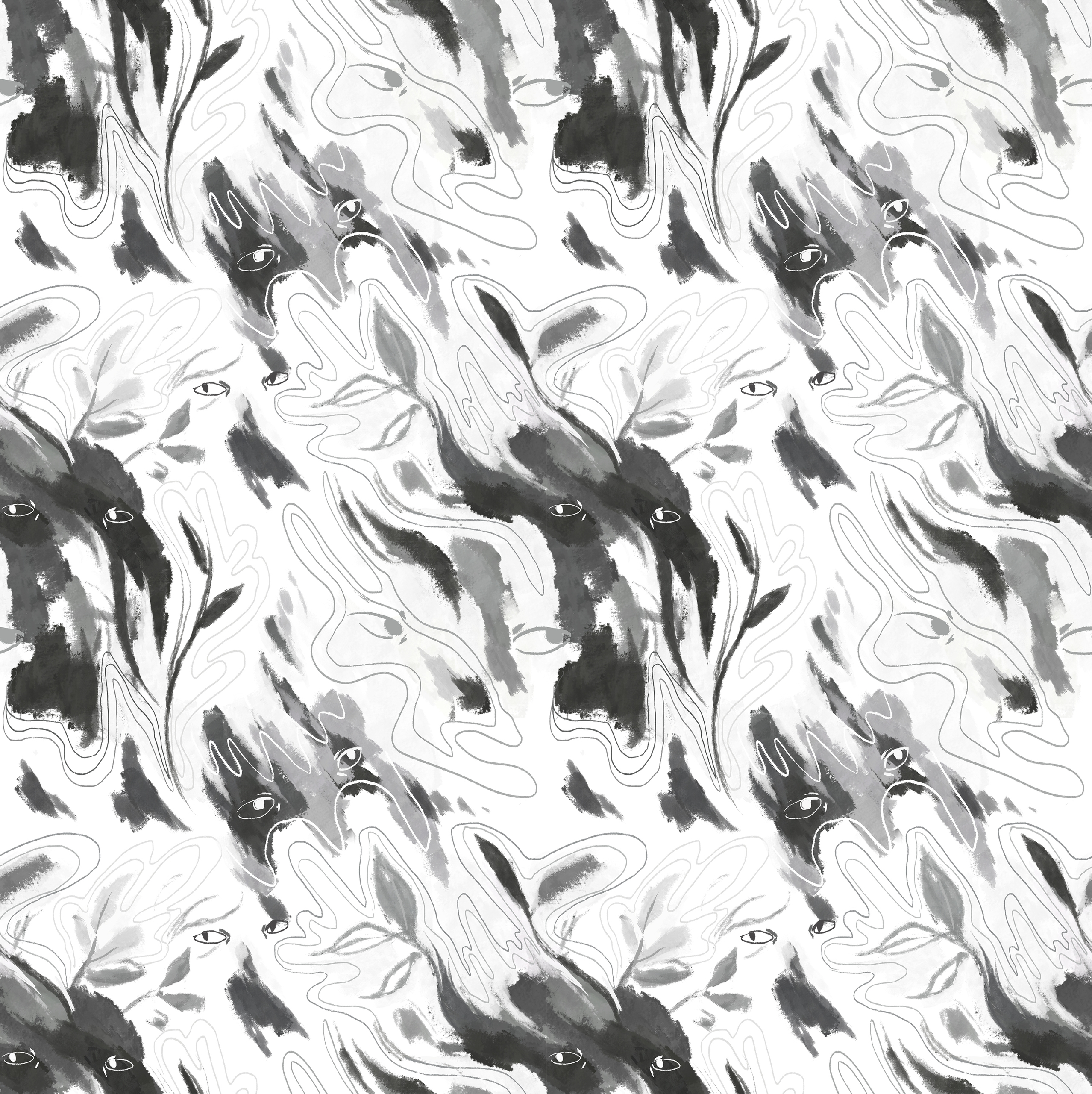 Pattern experiment 1 - illustration - nicolexu-8498 | ello