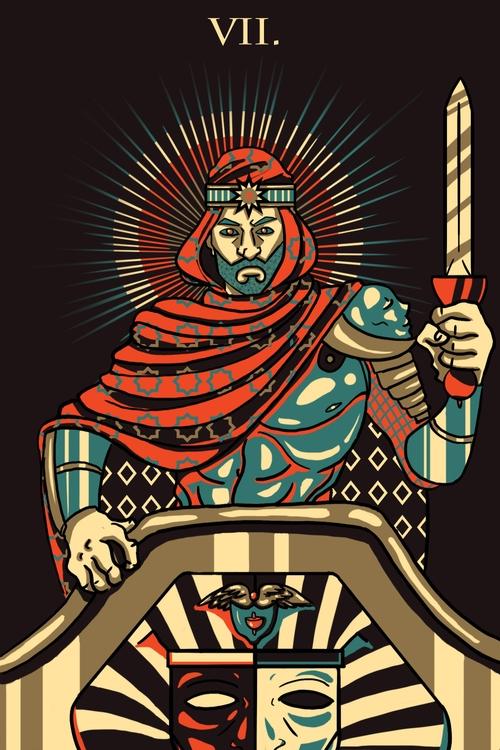 Chariot (VII - illustration, tarot - wingywonky-5811 | ello