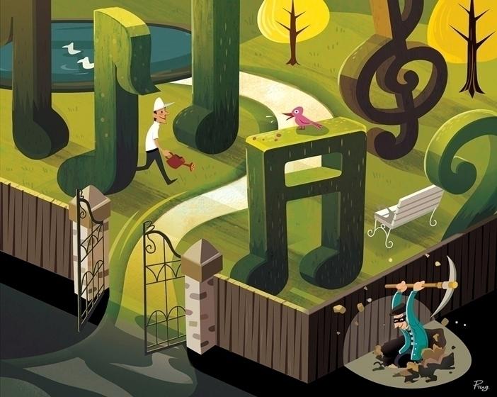 Free Birds - editorialillustration - ping-7637 | ello