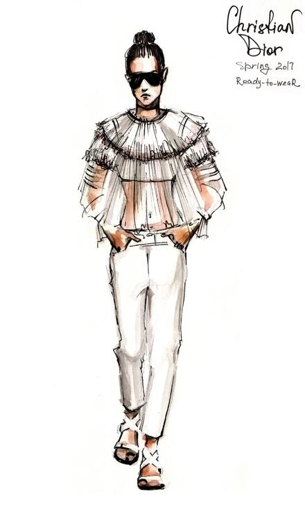 Cristian Dior spring'17 - illustration - annagosteva   ello