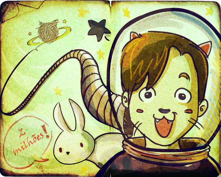 gato, galactico, cueio, ronaldo - amandaloyolla | ello