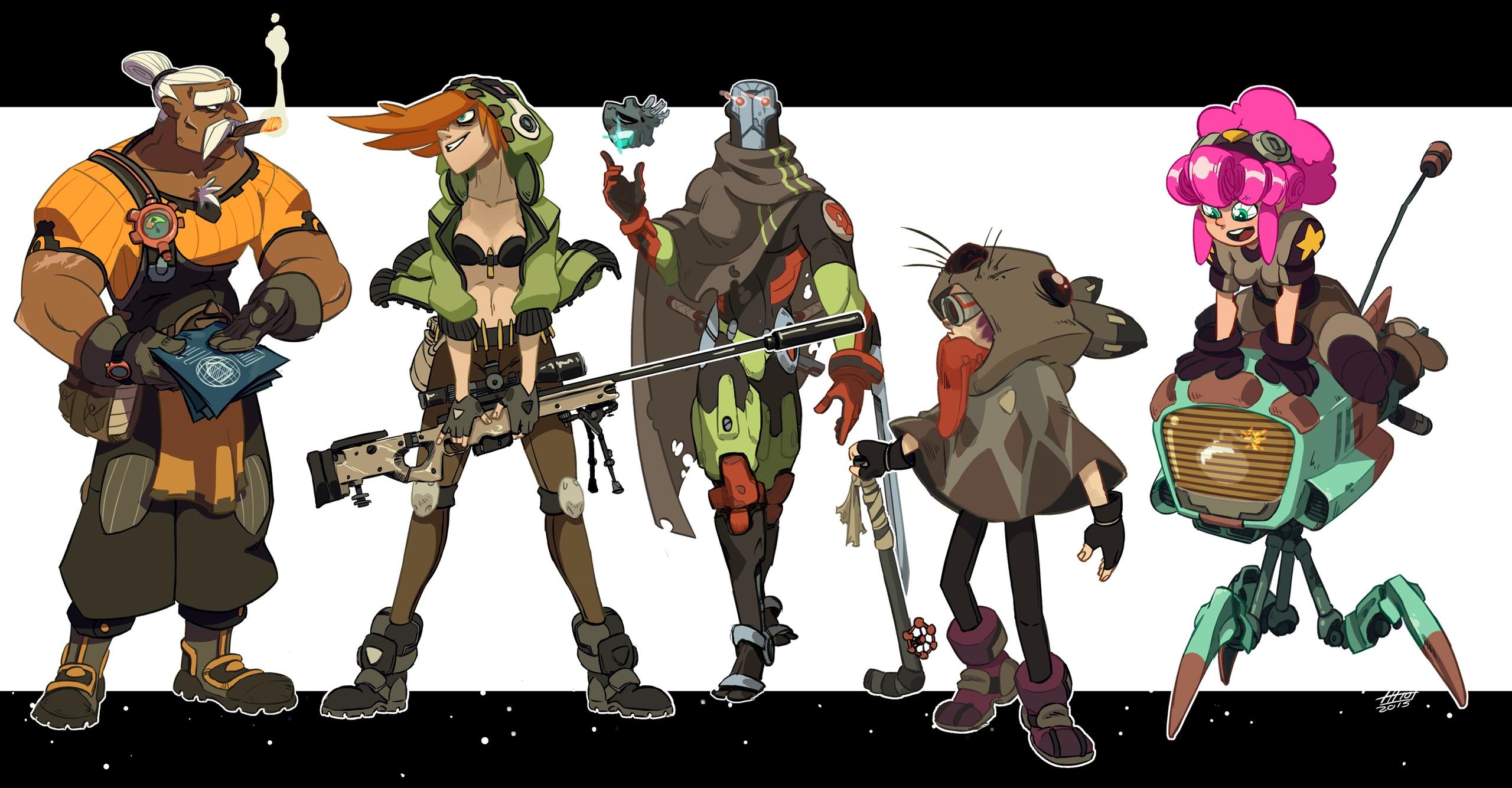 Desert world adventure team - characterdesign - emanuelearnaldi | ello
