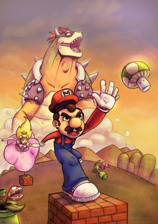 Fan art super mario stars - illustration - mateuzfernandes | ello