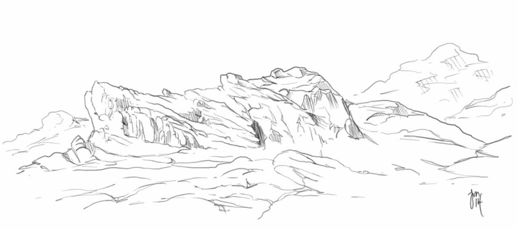 Cabo Rocks! Drawing rocks vacat - jasonmartin-1263 | ello