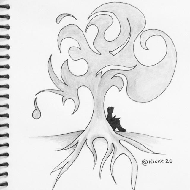 Tree - nature, natural, drawing - nicko25 | ello