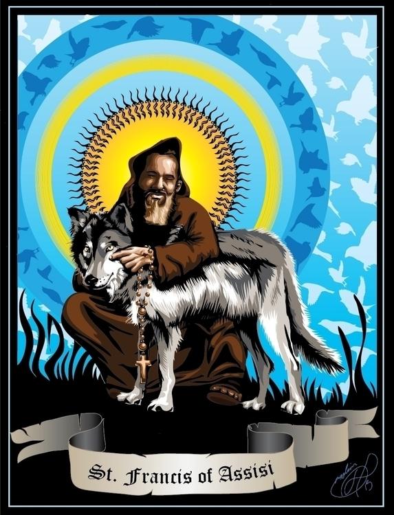 Saint Francis - vectorart, illustrator - tobinpilotte | ello