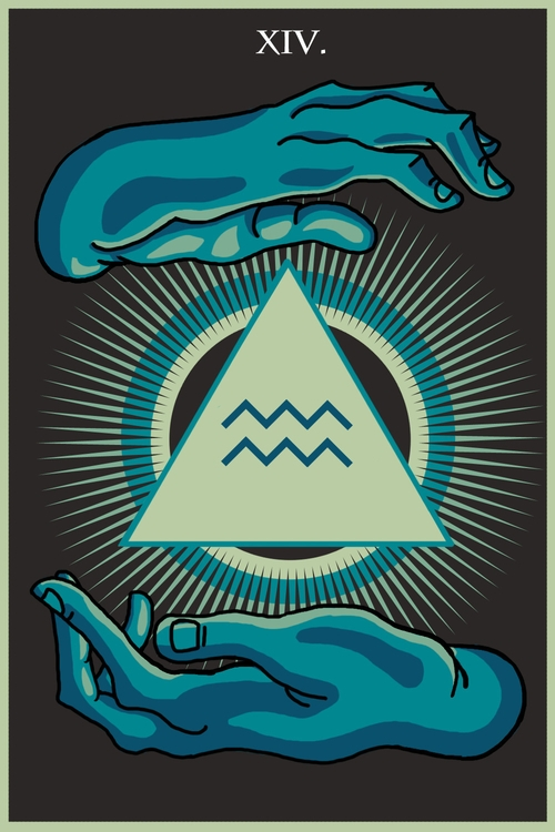 Temperance (XIV - illustration, tarot - wingywonky-5811 | ello