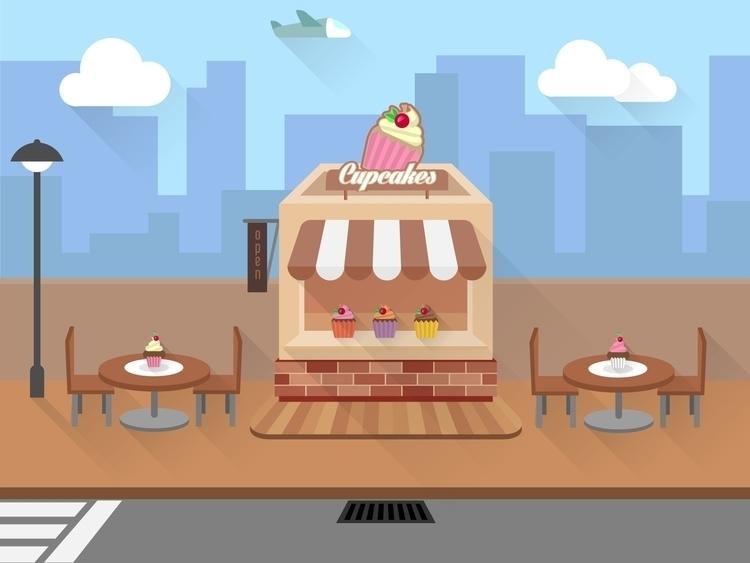 illustration, flatdesign, bakery - laudruiz | ello