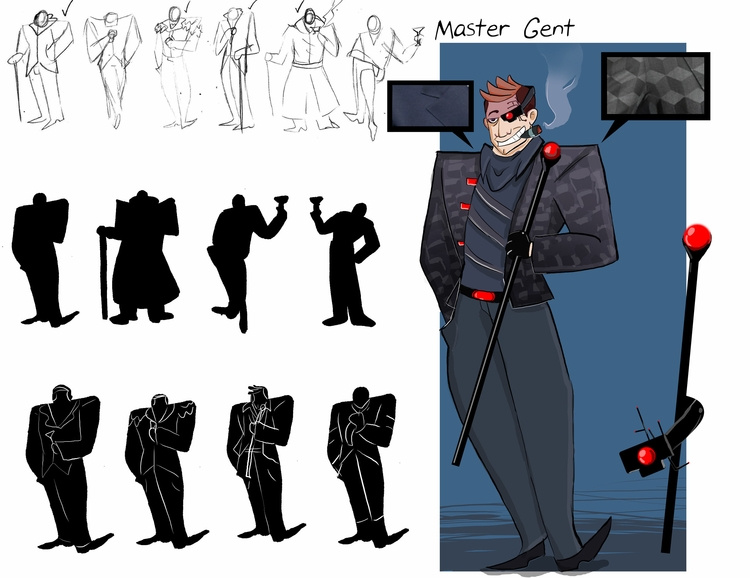 rich guy ruins - characterdesign - rem-7093 | ello