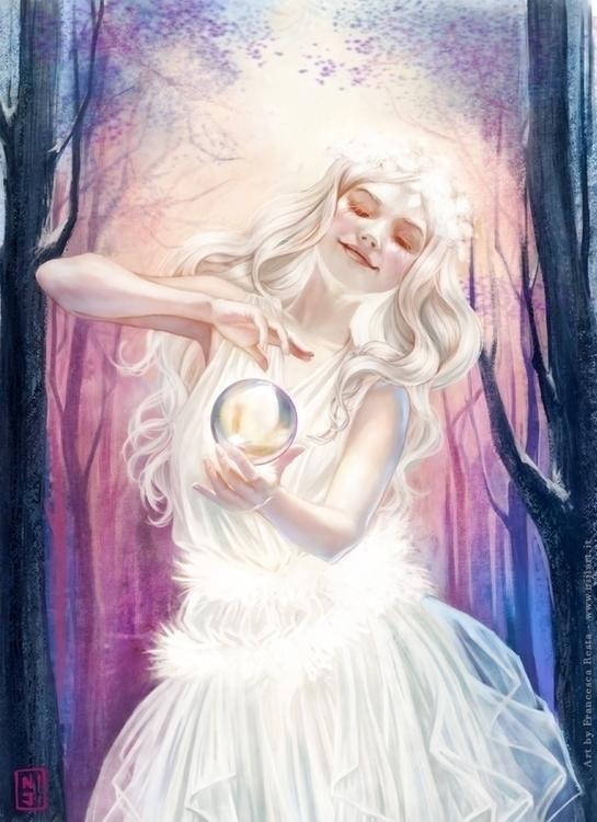 Winter Fairy - illustration, painting - niji-4647 | ello