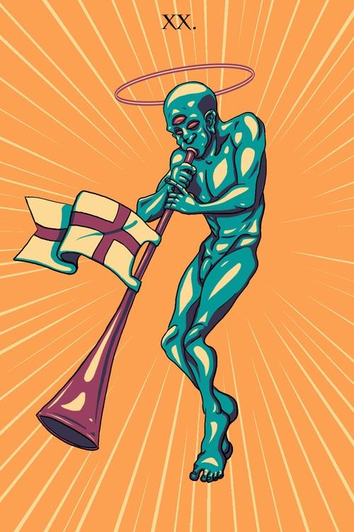 Judgement (XX - illustration, tarot - wingywonky-5811 | ello