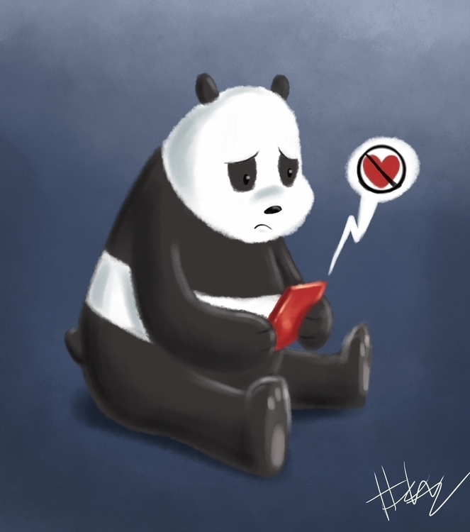 Sad Panda - webarebears, panda - hasaniwalker   ello