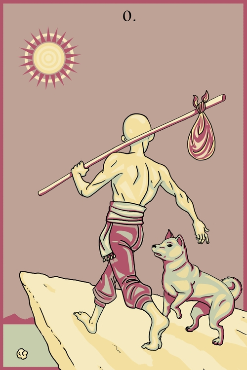 Fool - illustration, tarot - wingywonky-5811 | ello