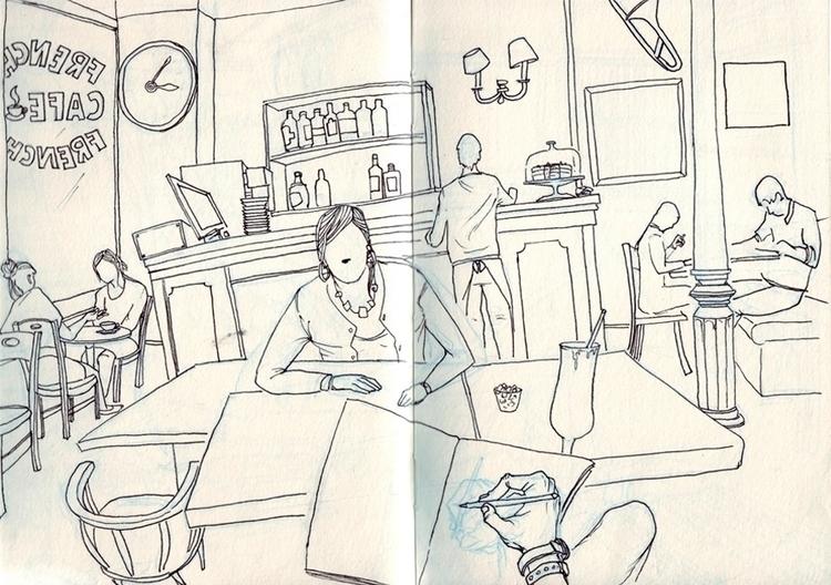 coffee friend 2011 - drawing, pen - ofgiorge | ello