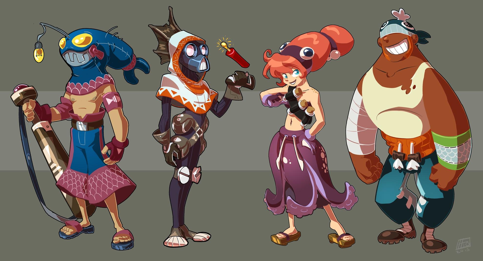 full team - characterdesign - emanuelearnaldi | ello