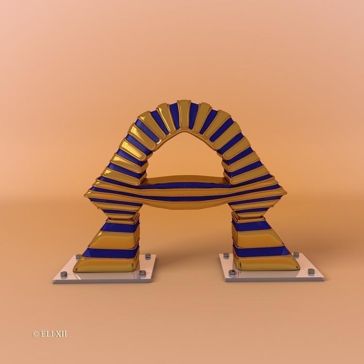 cinema4d, CGI, 3D, ALPHABET, Pharaoh - eli_xii | ello