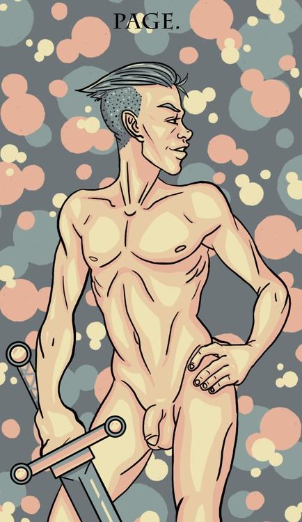Page Swords - illustration, tarot - wingywonky-5811 | ello