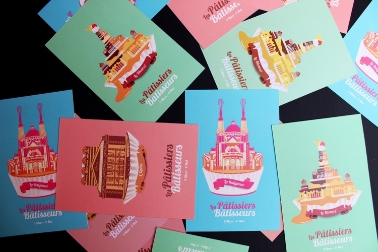 illustration, pastry, architecture - marylaine   ello