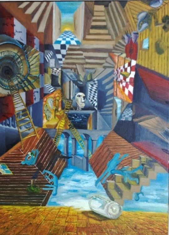 Delirium Oil paint - painting, oilpainting - gunfield2   ello