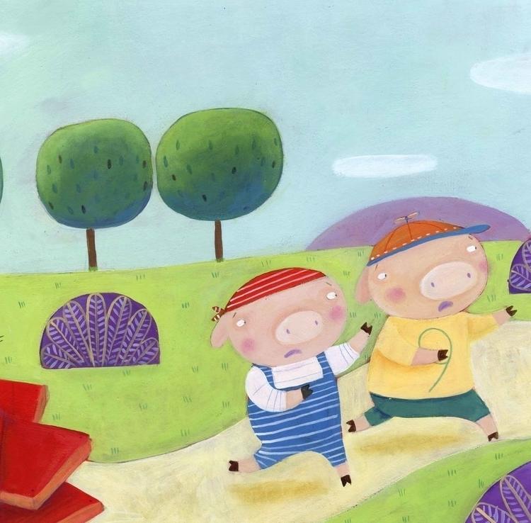 illustration, childrensbook, threelittlepig - francescaassirelli | ello