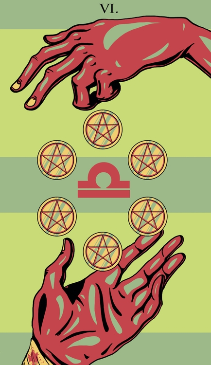 Pentacles - illustration, tarot - wingywonky-5811 | ello