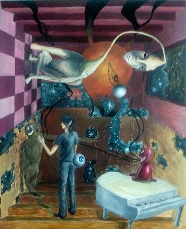 Nightmare Oil paint - painting, oilpaint - gunfield2 | ello