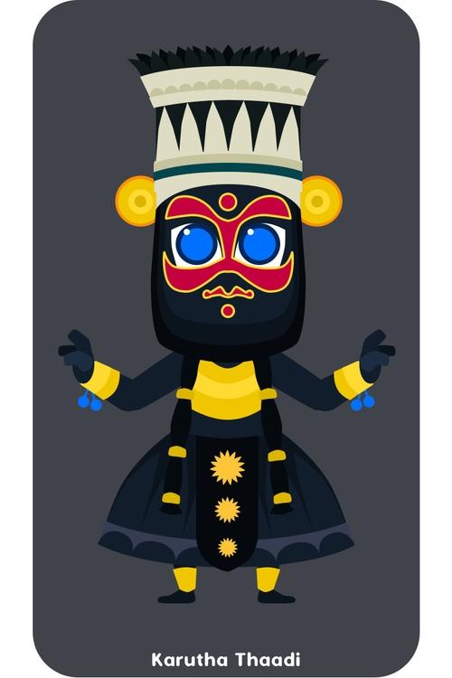 Karutha Thaadi - characterdesign - pixelputra | ello