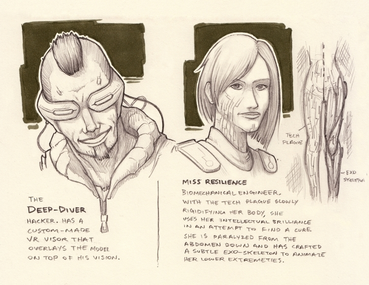 character ideas - drawing, conceptart - kylemcgill | ello