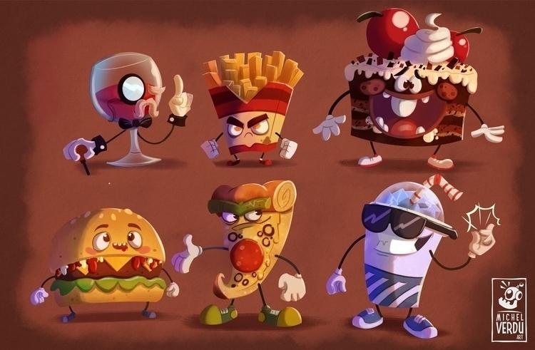 Junk Food gang - illustration, painting - michelverdu | ello