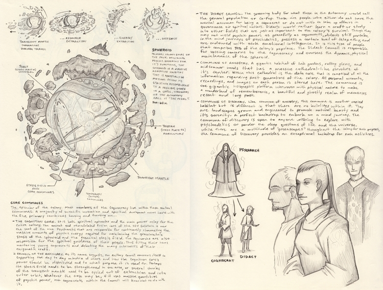 Nomad Sphere - drawing, conceptart - kylemcgill | ello