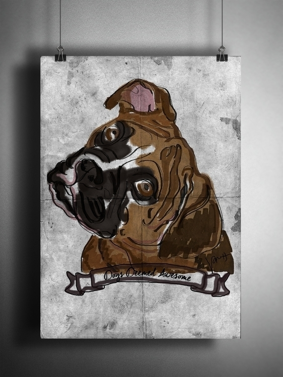 Dogs Deemed Awesome - Boxer - illustration - nessawvera | ello