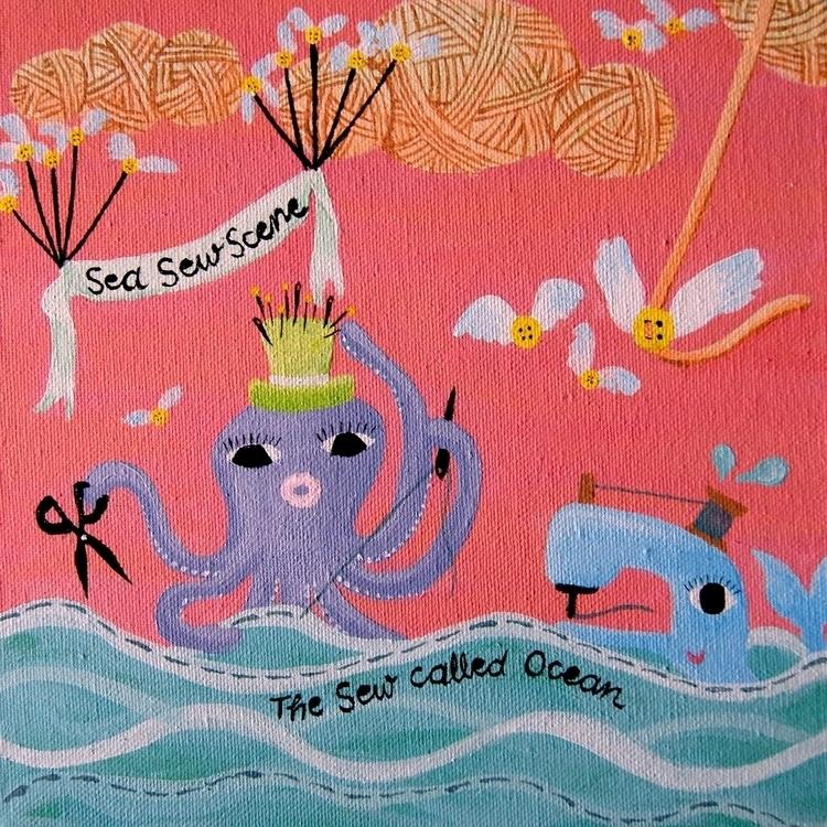 SEA SEW SCENE // Acrylic Canvas - terriph | ello