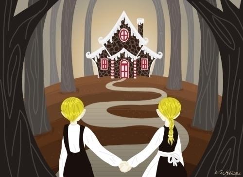 Hansel Gretel - children'sillustration - schlissel | ello