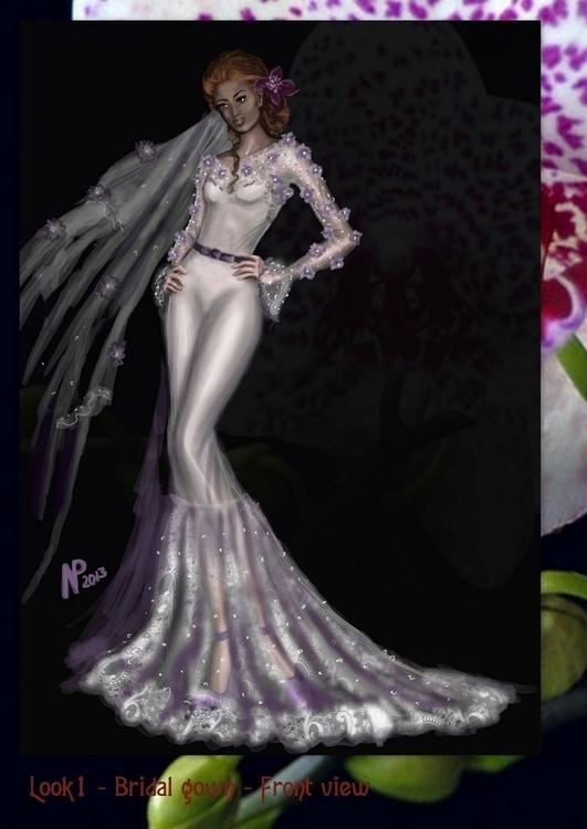 Kleid gown bridal - illustration - nadezhdapetrova | ello