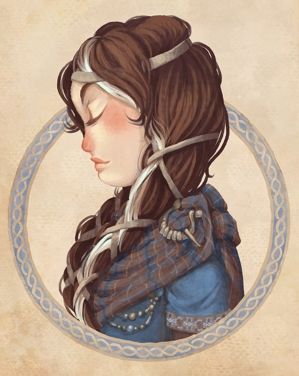illustration, celtic, medieval - melissadelteil | ello