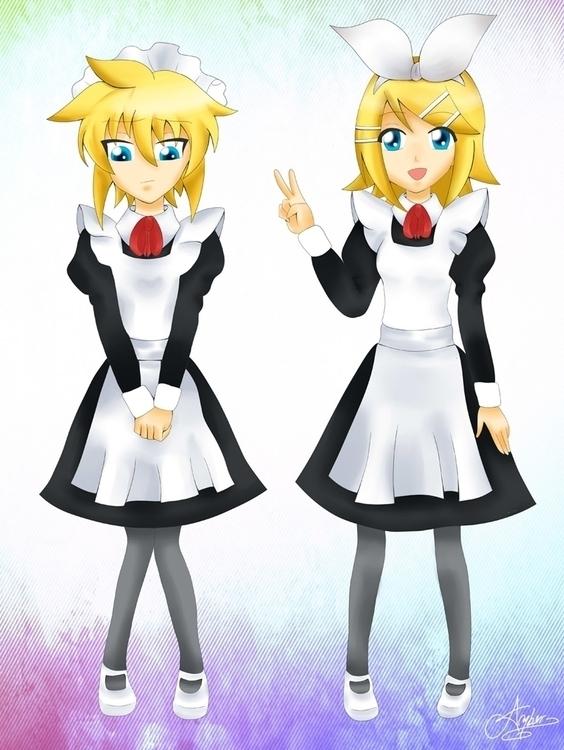 Kagamine Twins (Vocaloid - vocaloid - ambersteel | ello