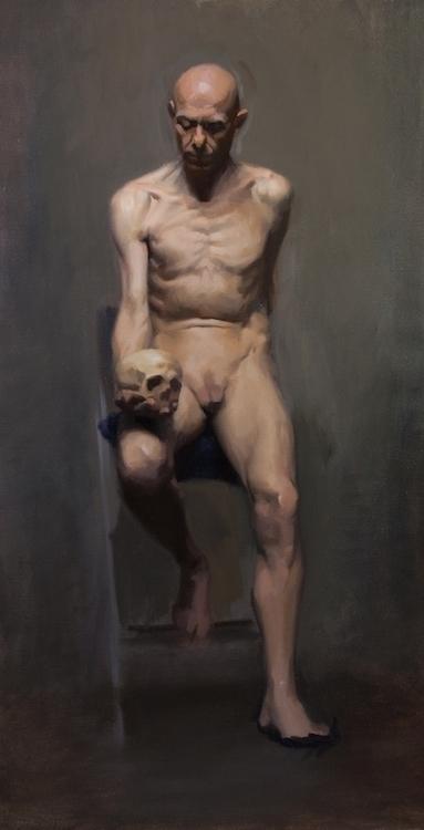 Model, Oil Canvas - painting, oilpainting - sarachong | ello