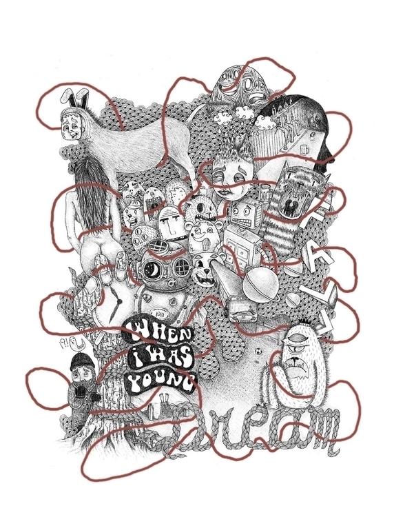 Dream - illustration, drawing, blackandwhite - patino | ello