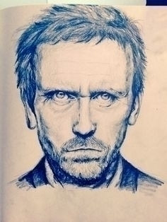 House MD - illustration, portrait - sarapetrolis | ello