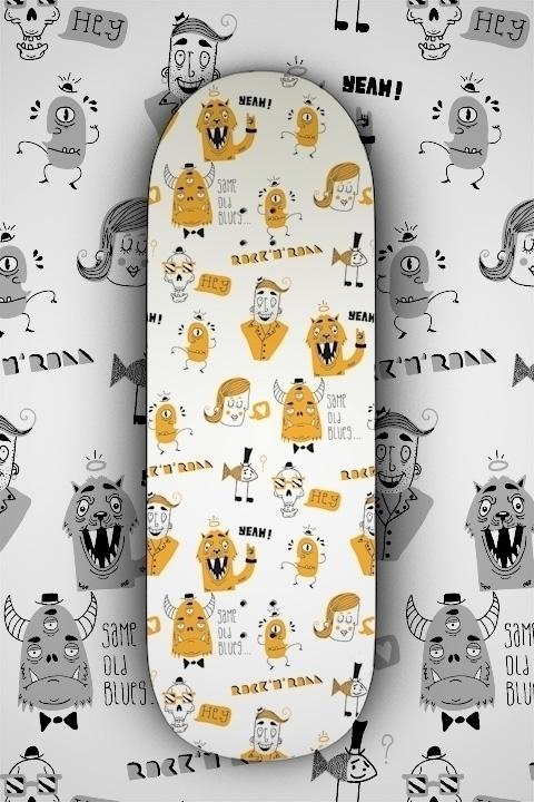 Pattern skate - characterdesign - patino | ello