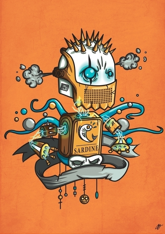ROBOT - illustration, painting, characterdesign - benben-9748 | ello