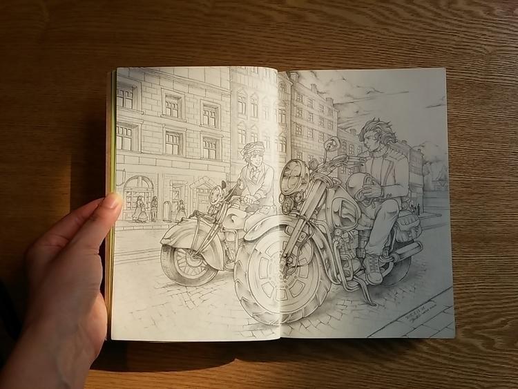 Concept scene sketch 1-2 - sketchbook - 4oclockvoyage | ello