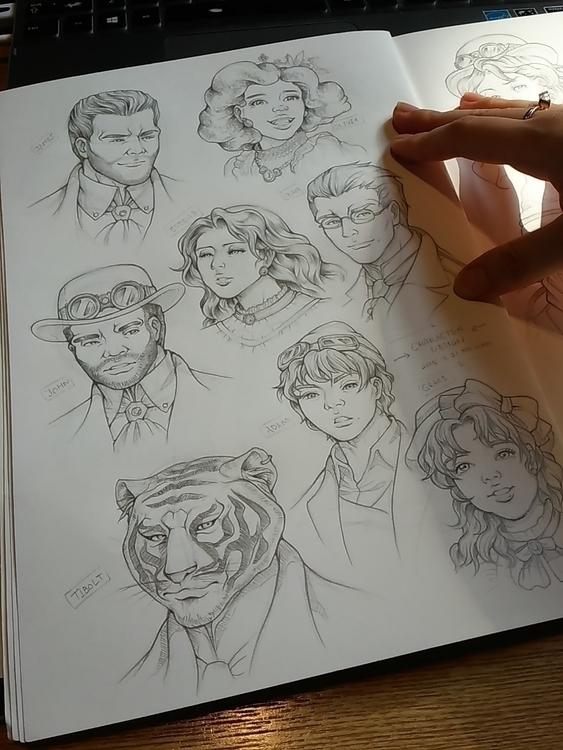 Character design: concept sketc - 4oclockvoyage | ello
