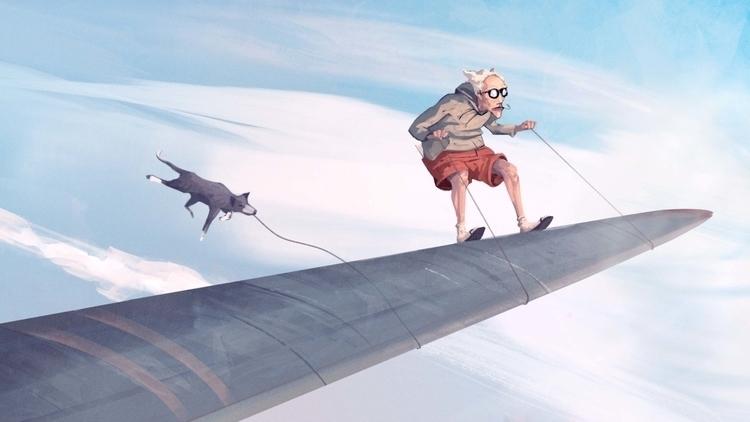 Travelling - dog, travel, wingplane - ricardcendra | ello
