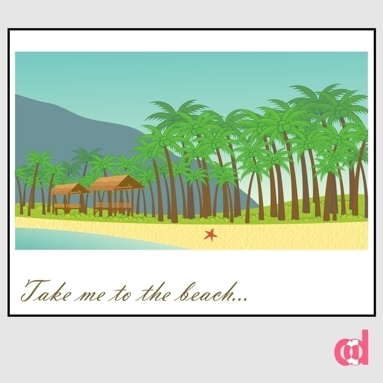 Beach  - illustration, design, digitalillustration - anantadianti | ello