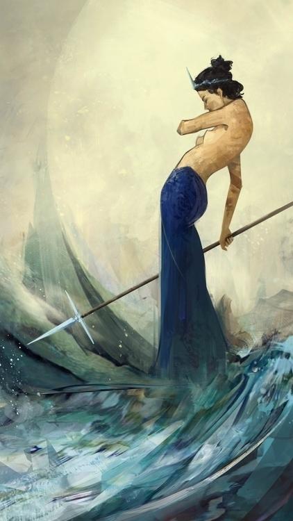 Spear - warriorwoman, spear, wave - ricardcendra | ello