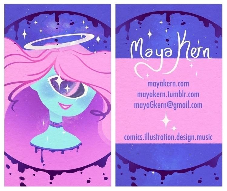 business card design cons - illustration - mayakern | ello