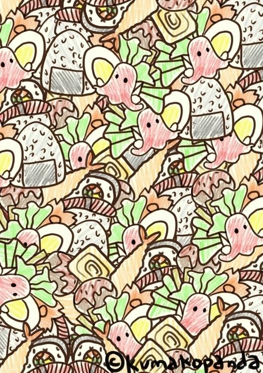 Bento doodle - illustration, digitalart - khayezapatero | ello