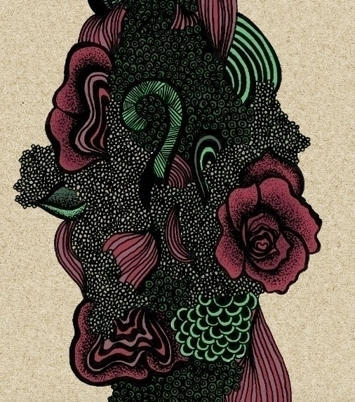 Floral doodle colour - illustration - byeblackbirdy | ello